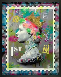 First Class Queen II by Dan Pearce - Original Mixed Media on Board sized 35x41 inches. Available from Whitewall Galleries